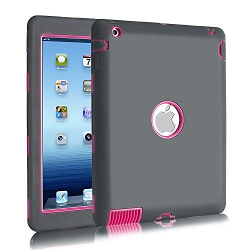 Fisel Schutzhülle für iPad 2/3 / 4, dreilagig, robust, stoßfest, Hybrid, strapazierfähig, Kratzfest, stoßfest, stoßfest