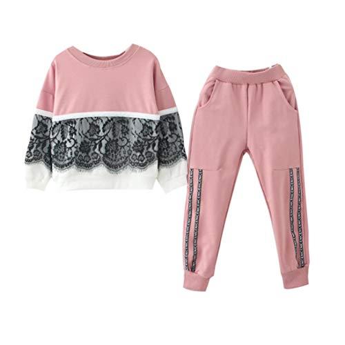Bambina 18 Mesi Abbigliamento Completino Bambino Completini Per Bambini  Vestiti 0-24 Mesi Toddler Bambini Bambino Ragazza Pizzo Pullover Cime +  Pantaloni ... 464ee8644d1