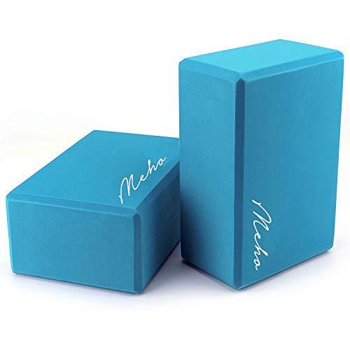 Mohe Yoga-Blöcke, 2 Stück, Eva-Schaum, für Körpertraining, 22,9 x 15,2 x 10,2 cm, türkis, 2 Pack (Eine Zoll Schaum-blöcke)