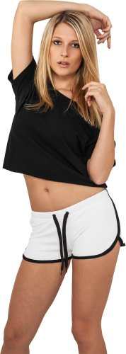 - donne French Terry Hotpants Urban Classics TB363 nero/fucsia Wht/Blk Small