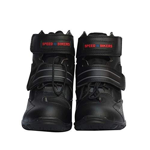 Botas de motocicleta unisex, motos ligeras transpirables ligeras transpirables Botas de carreras de carretera Hombres y mujeres Caballeros Botas cortas Zapatos de montar para el ocio