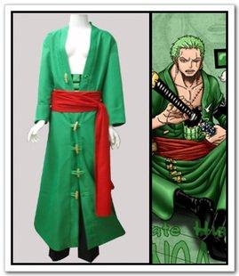 Sunkee One Piece Cosplay Roronoa Zoro Umhang Kostüm, Größe XL ( Alle Größe Sind Wie Beschreibung Gesagt, überprüfen Sie Bitte Die Größentabelle Vor Der Bestellung ()