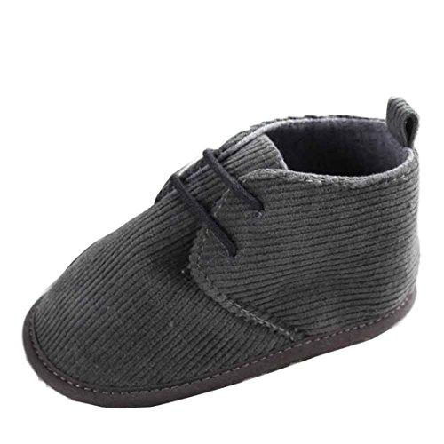 Saingace® Krabbelschuhe,0 ~ 18 Monate Baby-Kleinkind -Säuglings Schnee Stiefel Schuhe Verband weiche Sohle Prewalker Krippe Schuhe Grau