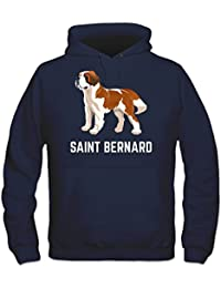 Saint Bernard Illustration Hoodie by Shirtcity
