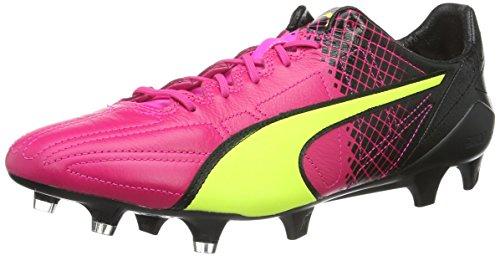 PUMA Evospeed SL II LTH Tricks FG, Chaussures de Football Homme, Rose (Pink glo Safety Yellow Black 01), 39