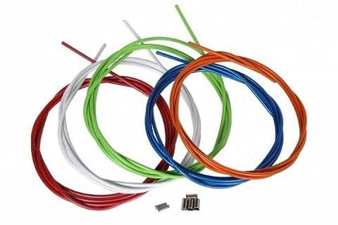 2,5 m Câble de frein kit en couleur, cable + gaine freine Vélo Kit externe et interne 7 couleurs, couleur: