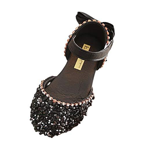 Vovotrade Kinder Mädchen Ballerinas Schuhe für Partys und Mädchen Sandalen mit Glitter - Kinder Sommer-Schuhe Strandschuhe mit Klettverschluss By -
