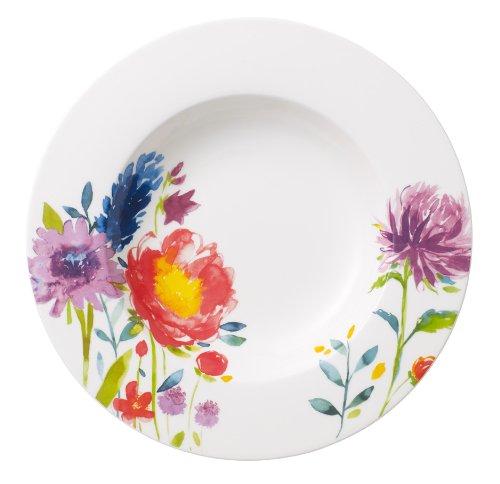 Villeroy & Boch 10-4444-2700 Assiette Creuse Porcelaine Rouge 25 x 25 x 9,1 cm Convient pour 1 personne