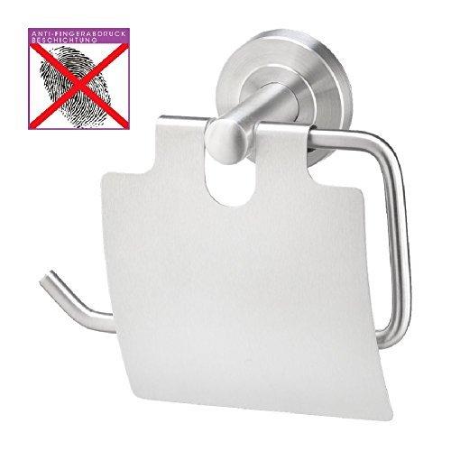 WC Papierrollenhalter mit Abdeckung, Edelstahl