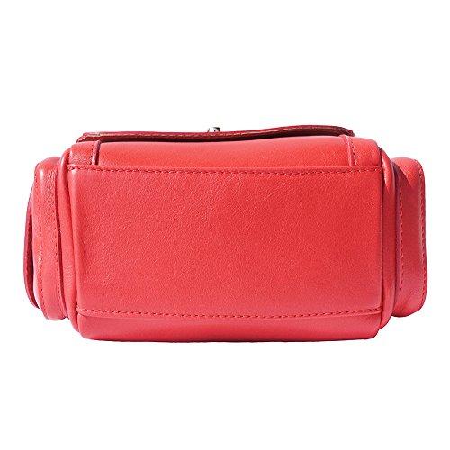 borsetta a mano con tasche laterali 6142 Rosso
