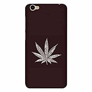 CrazyInk Premium 3D Back Cover for Vivo Y55s - Weed Leaf Art