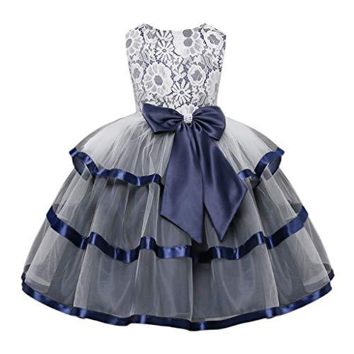 Vestido De Princesa ZARLLE Falda de Chicas con Volante de Encaje Vestidos de Boda y Fiesta Fiesta De Cosplay