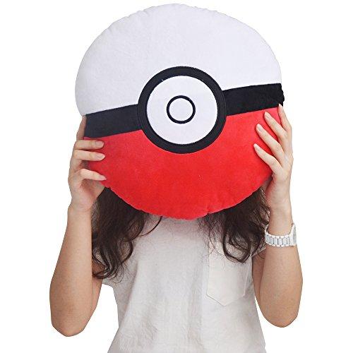 Pokemon Pokeball Kuschel-Kissen | 35*35*10cm | (Pokemon Trainer Blauen Kostüm)