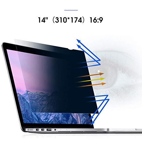 Dynamicoz 12,5-15,6-Zoll-Computer-Universal-Displayschutzfolie, Blau Film-Schirm-Schutz 30 ° Anti-Sneak Peek LCD-Schutzfolie Easy to use