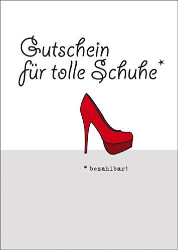 Gutschein für tolle Schuhe - Blanko Gutscheinkarte • auch zum direkt Versenden mit ihrem persönlichen Text als Einleger.