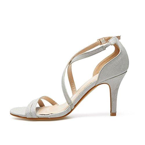 GLAMZ , Sandales pour femme femme silver