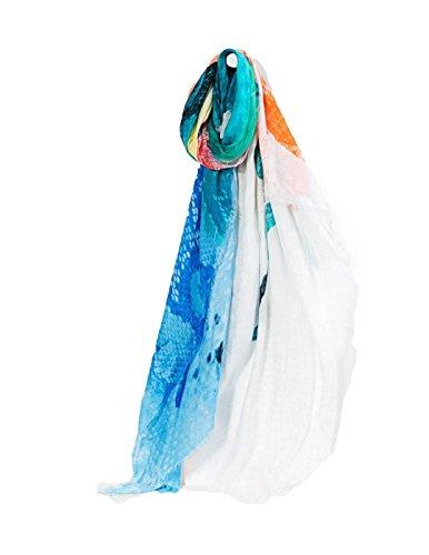 Multicolor Desigual Soft Foulard Aquarelle Multicolore