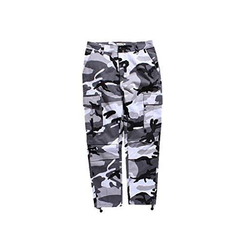 MEIHAOWEI Damen Herren Jogging Hose Lila Rosa Grau Camo Hose Hose Cargo Hose Streetwear Hip Hop Harem Jogger Camouflage Hose (Hose Camo)