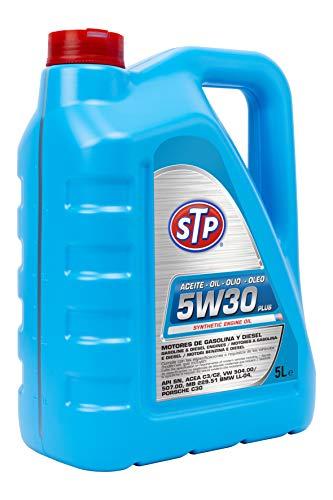 STP STA5W305L Olio 5W30 Plus Motori a Benzina e Diesel. API SN, ACEA C3/C2, VW 504.00/507.00, MB 229.51, BMW LL-04, Porche C30, 5 litro.