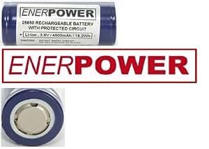 Enerpower lot 4500 mAh li-ion 26650 9A format-pCB-flat top lot de fabrication tensai :  cellule en allemagne)