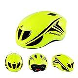 QFZFLY Casco per Mountain Bike da Esterno può Essere Regolato in Dimensioni, Ventilazione Multipla E Protezione Eps, Adatto per La Competizione Ciclistica,Green