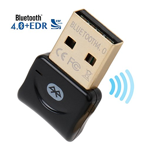 Bluetooth CSR 4.0 USB Dongle Adapter, ekson Bluetooth-Sender und Empfänger für Windows 10/8.1/8/7/Vista - Plug und Play auf Win 7 und vor. Bluetooth-headset Audio Gateway