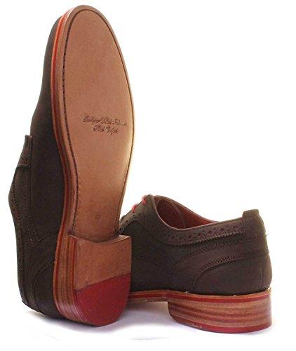 Justin Reece Owen, Chaussures de Ville à Lacets Pour Homme Marron