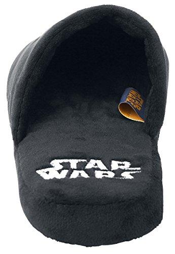 Pantofole peluche Star Wars - Impero Galattico - Slipper - babbucce - nere Nero