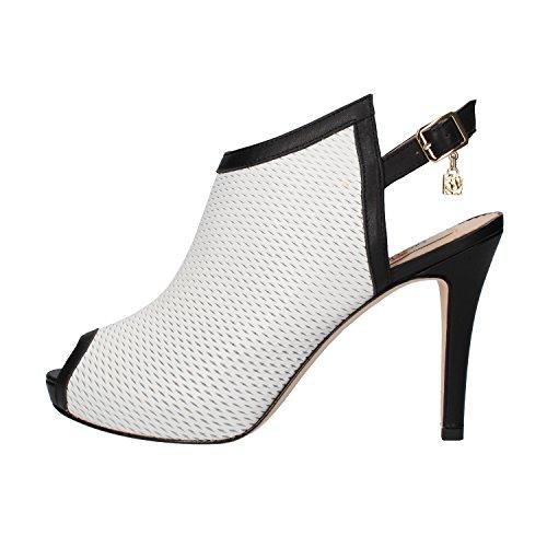scarpe donna BRACCIALINI sandali nero bianco pelle AH385 (37 EU)
