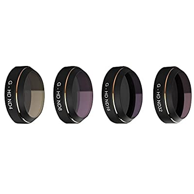 PGY Lens Filters Set G-HD ND4 ND8 ND16 ND32 for DJI MAVIC Pro Drone Quadcopter