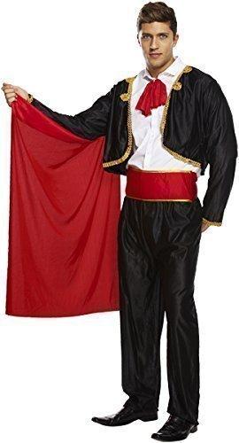Herren Erwachsene spanisch mexikanisch Stierkämpfer Matador Zirkusdirektor Kostüm Kleid Outfit