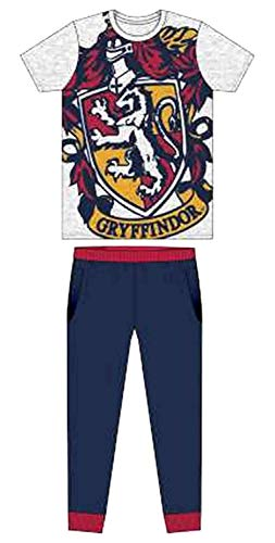 Character Clothing Herren Erwachsene Neuheit Batman Spiderman Superman Avengers Jurassic Park Harry Potter Schlafanzüge Pyjama Pj-Satz Kostüm - GR. S-XL - Harry Potter - Gryffindor Logo, L (Jurassic Park Kostüm Für Erwachsene)