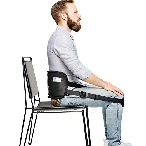 sit right Rückengurt für gesundes Sitzen - Geradehalter & Haltungstrainer für eine aufrechte Körperhaltung - Rückentrainer zur Haltungskorrektur - schwarz - Einheitsgröße
