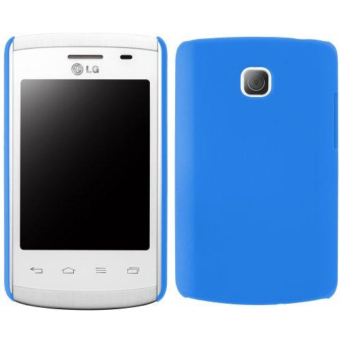 Blau Case Lg Handy L1 (handy-point COBI Hülle aus gummiertem Kunststoff Kunststoffhülle Hülle Schale Schutzhülle Handyhülle Handyschale Hardcase für LG Optimus L1 2 in Blau)