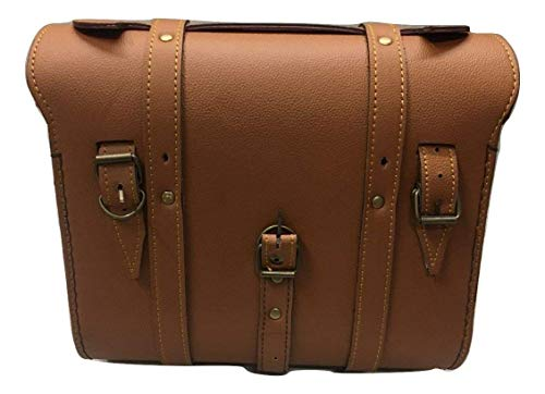 Sahara Rücksitz Square Satteltasche für Royal Enfield (Tan) - Tan Satteltasche