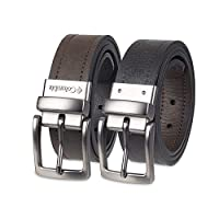 Columbia Men's Reversible Leather Belt - Casual for Men's Jeans with Double Sided Strap, Dark Brown/Deep Black, 44
