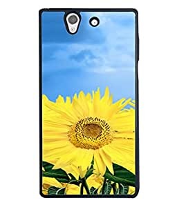 FUSON Designer Back Case Cover for Sony Xperia Z :: Sony Xperia ZC6603 :: Sony Xperia Z L36h C6602 :: Sony Xperia Z LTE, Sony Xperia Z HSPA+ (Field With Bright Blue Sky Summer Sunlight Leaves)