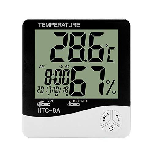 ZRK Htc-8A Home Indoor Temperatur und Feuchtigkeit Meter Leuchtmesser Alarm Uhr High Precision Thermometer Kalender Thermometer kann verkauft Werden Großhandel