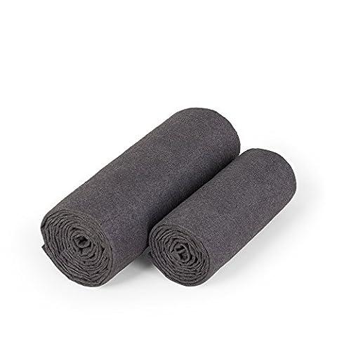 nu:ju Sporthandtücher | Fitnesshandtücher | Saunatücher | Strandtücher aus Evolon | 2er Pack (ca. 50x100 & 70x150cm) - ultraleicht (56 &137g), hygienisch, angenehm auf der Haut, waschbar bis 95°C
