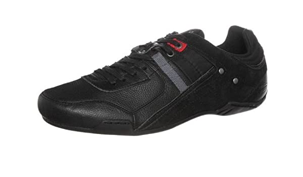 new products 50cc5 ace00 DIESEL Korbin S Black Grey Red Leather Mens New Trainers ...