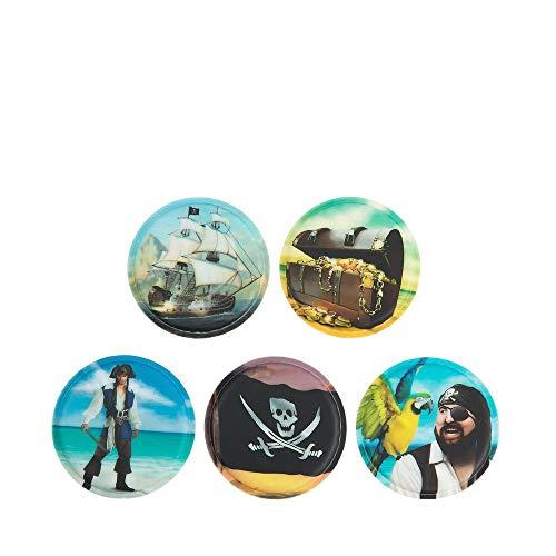 Ergobag Accessoires Klettbilder-Set 5-tlg Kletties Piraten Piraten
