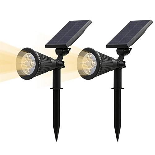 Solarscheinwerfer, Outdoor-Sicherheitsgarten-Landschaftsleuchten, Auto-On bei Nacht/Auto-Off bei Tag, 180 ° -Winkel einstellbar für Terrasse, Baum, Deck, Wand, Poolbereich.