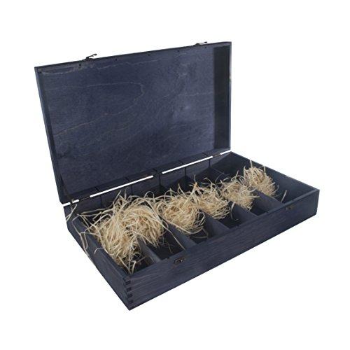 Caja de madera para 6 botellas de vino