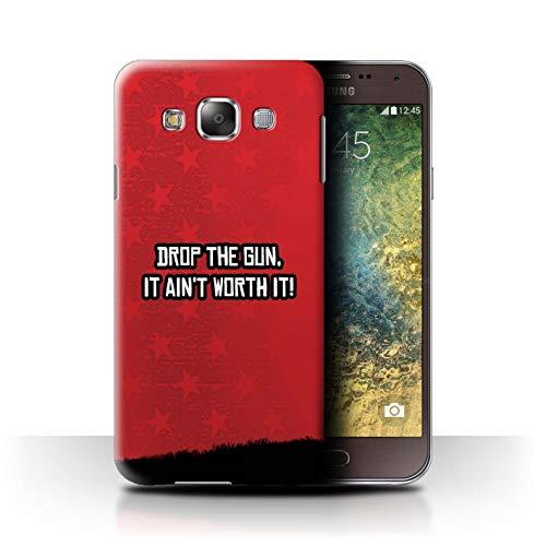 Hülle/Case für Samsung Galaxy E5/E500 / Lass Die Waffe Fallen Muster/Western Schütze Spiel Kollektion