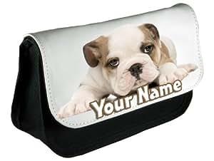 Personnalisé Bulldog chiot Crayon/maquillage cas