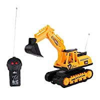Seayahy 2 Channel Excavator Toy Remote Control Truck Digger Batteries 2.4Ghz Construction Toys Vehicles, Birthday Gift For Your Kids