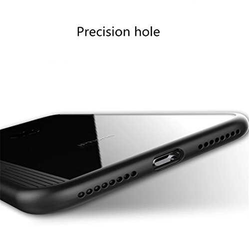 coque iPhone 7/8 Plus silicone Doux TPU Pare-chocs Transparent Clair 3D ultrafin sculpture sur laser Überzug Étui de téléphone de coque de protection Mode Simple Case cover DECHYI Pour iPhone 7Plus/iP 3# Noir