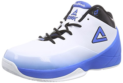 PEAK Sport Europe - PEAK Basketballschuh Jason Kidd, Scarpa da Basket uomo, color Bianco (White/Blue), talla 43