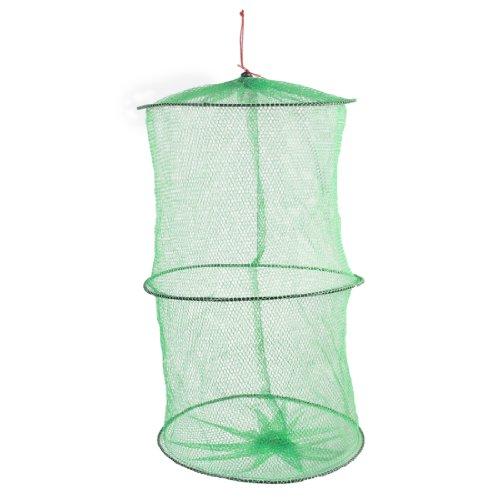 sourcingmap® Verde 4 Strati 45.7cm Lunghezza Pieghevole Granchio Gamberetti Pesci Keep Rete Da Pesca