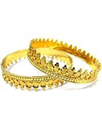 Shree Mauli Creation Golden Alloy Pichodi Bangles Set Of 2 For Women SMCB63